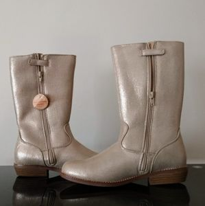 Hanna Anderson Gold Girls Boots Size 4